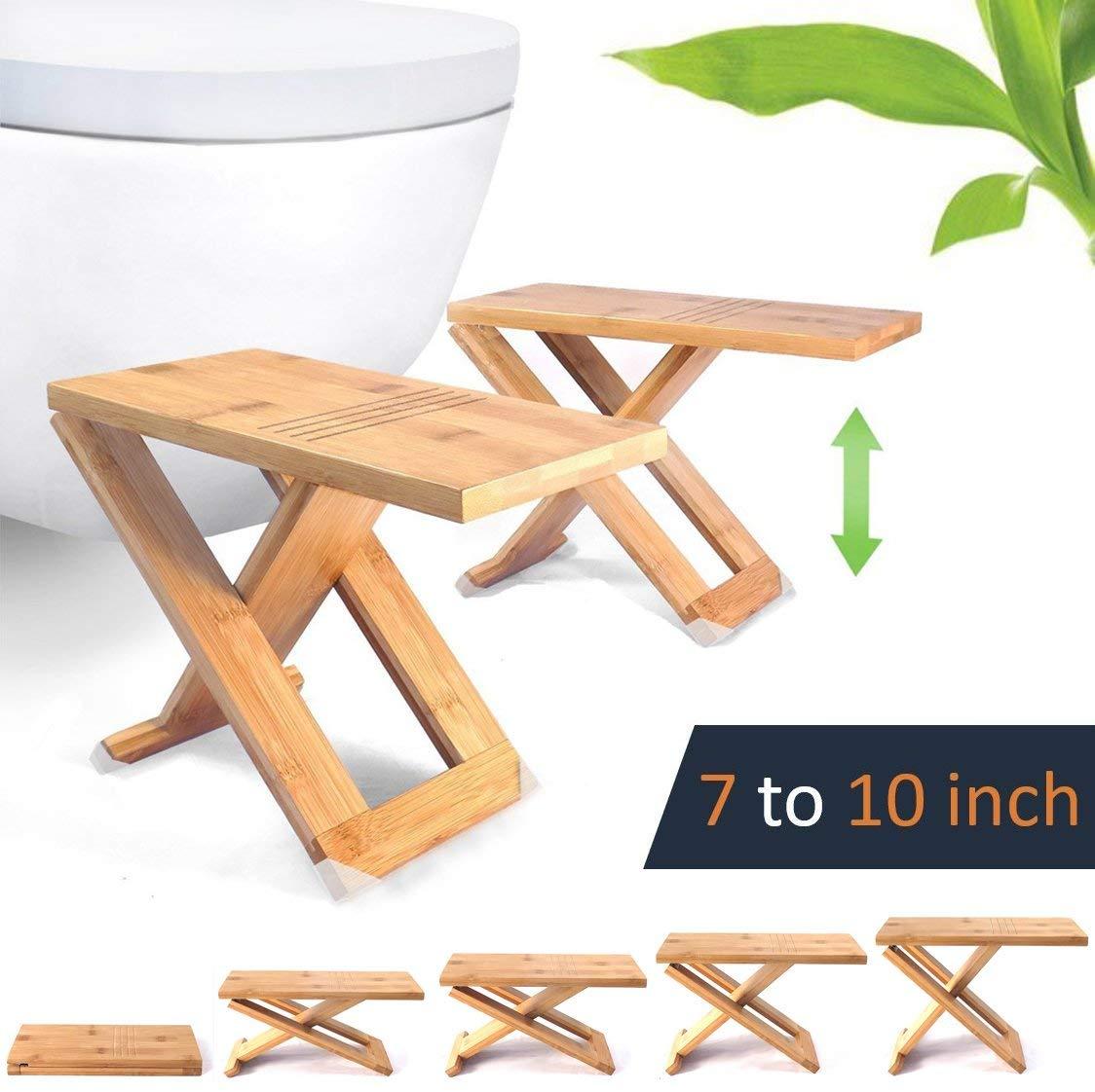 adjustable wood toilet stool